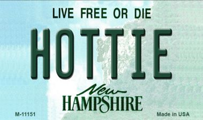 Hottie New Hampshire State License Plate Magnet M-11151