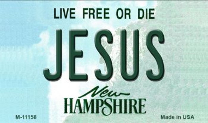 Jesus New Hampshire State License Plate Magnet M-11158