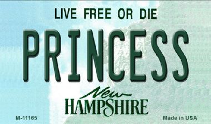 Princess New Hampshire State License Plate Magnet M-11165
