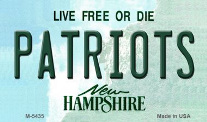 Patriots New Hampshire State License Plate Magnet M-5435