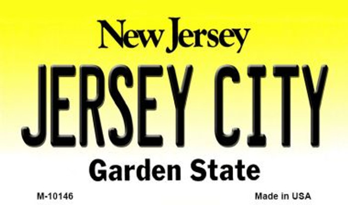 Jersey City New Jersey State License Plate Magnet M-10146