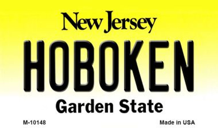 Hoboken New Jersey State License Plate Magnet M-10148
