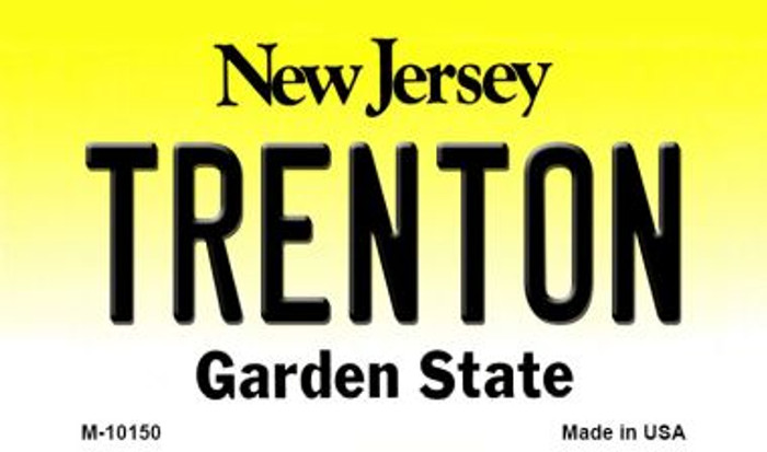 Trenton New Jersey State License Plate Magnet M-10150