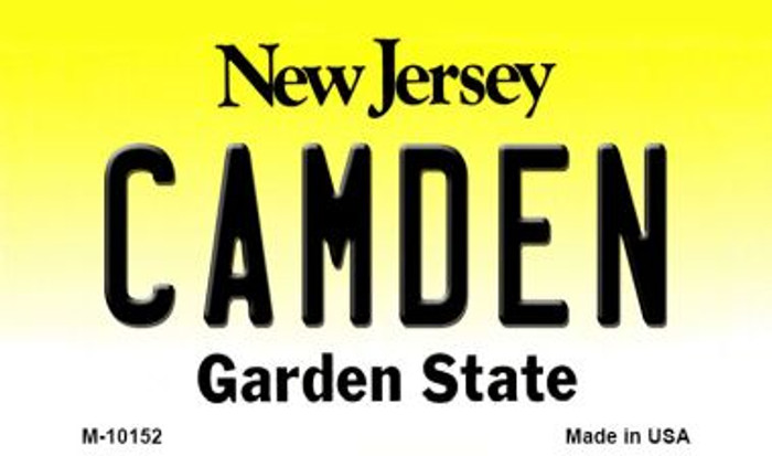 Camden New Jersey State License Plate Magnet M-10152