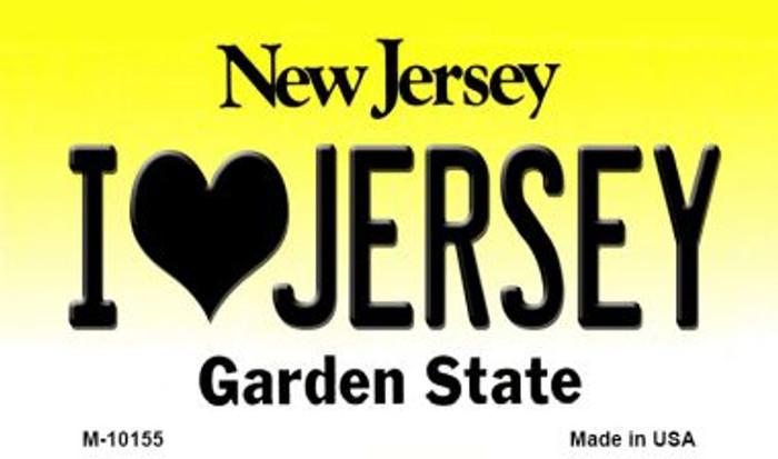 I Love Jersey New Jersey State License Plate Magnet M-10155