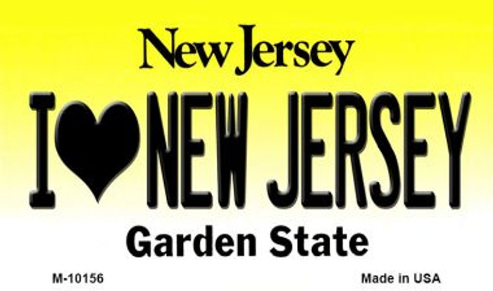 I Love New Jersey New Jersey State License Plate Magnet M-10156