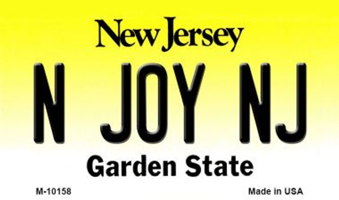 N Joy NJ New Jersey State License Plate Magnet M-10158