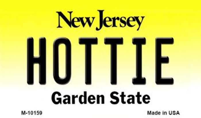 Hottie New Jersey State License Plate Magnet M-10159