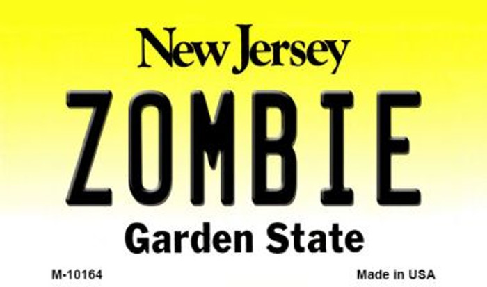 Zombie New Jersey State License Plate Magnet M-10164