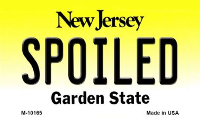 Spoiled New Jersey State License Plate Magnet M-10165
