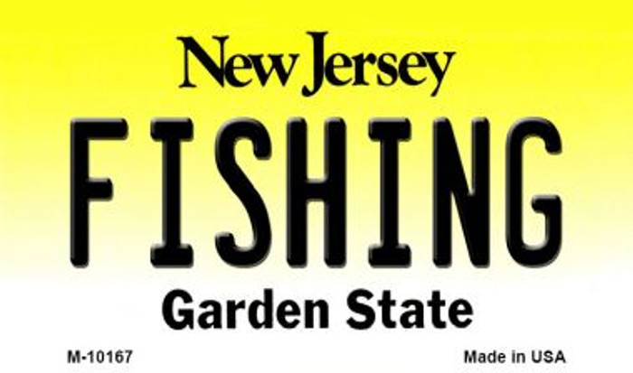 Fishing New Jersey State License Plate Magnet M-10167