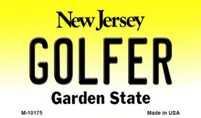 Golfer New Jersey State License Plate Magnet M-10175