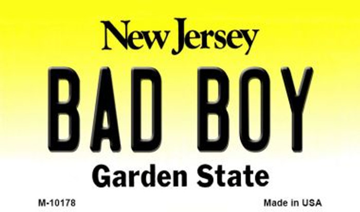 Bad Boy New Jersey State License Plate Magnet M-10178