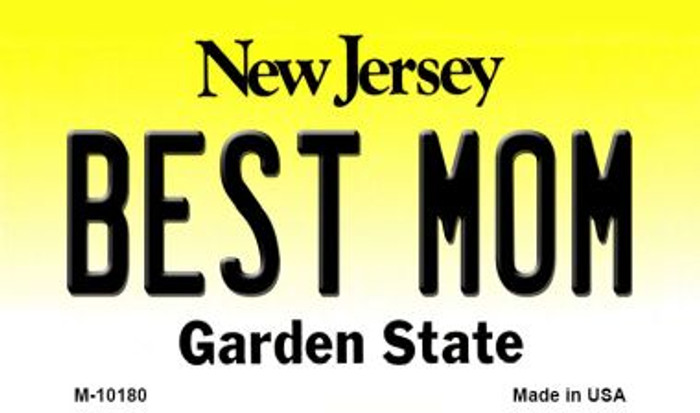Best Mom New Jersey State License Plate Magnet M-10180