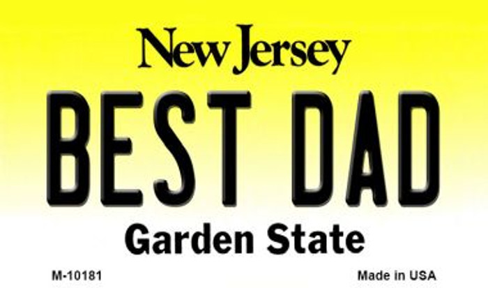 Best Dad New Jersey State License Plate Magnet M-10181