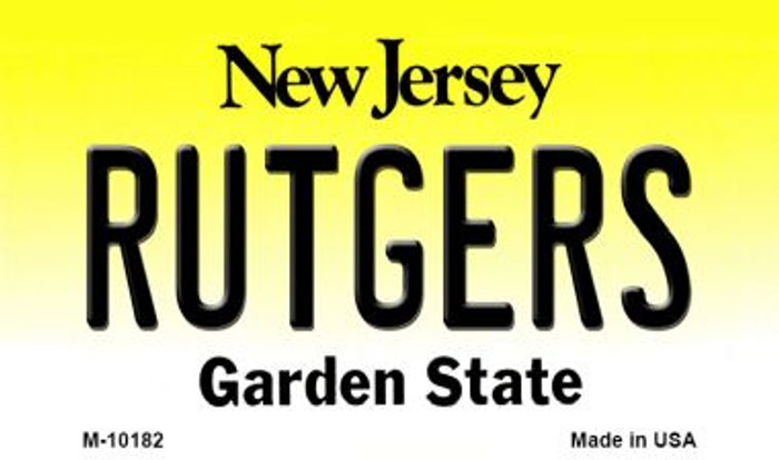 Rutgers New Jersey State License Plate Magnet M-10182