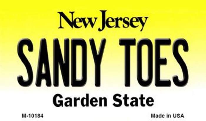 Sandy Toes New Jersey State License Plate Magnet M-10184
