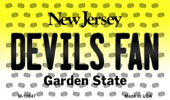 Devils Fan New Jersey State License Plate Magnet M-10847