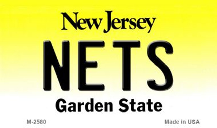Nets New Jersey State License Plate Magnet M-2580