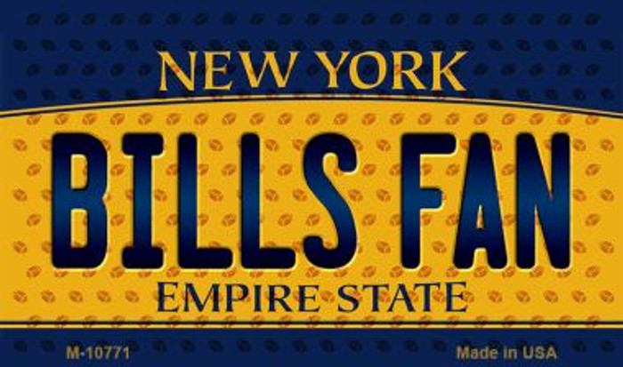 Bills Fan New York State License Plate Magnet M-10771