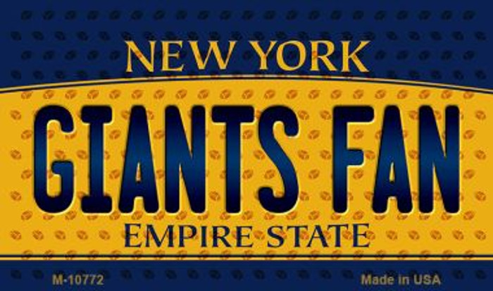 Giants Fan New York State License Plate Magnet M-10772