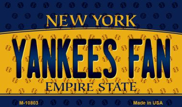 Yankees Fan New York State License Plate Magnet M-10803