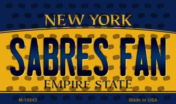 Sabres Fan New York State License Plate Magnet M-10843