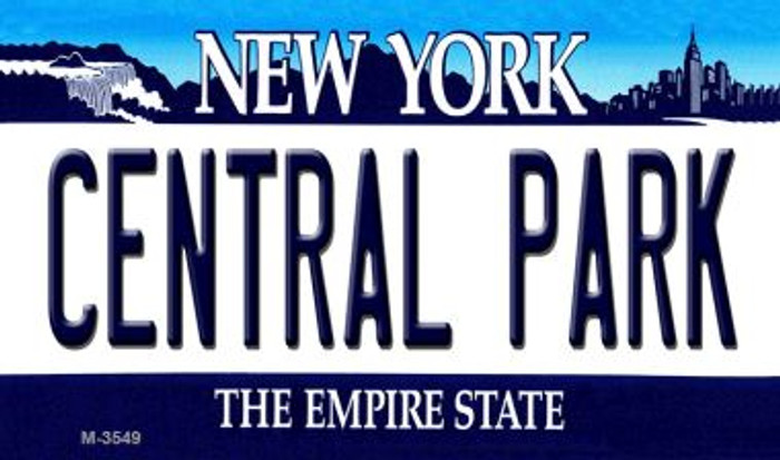 Central Park New York State License Plate Magnet M-3549