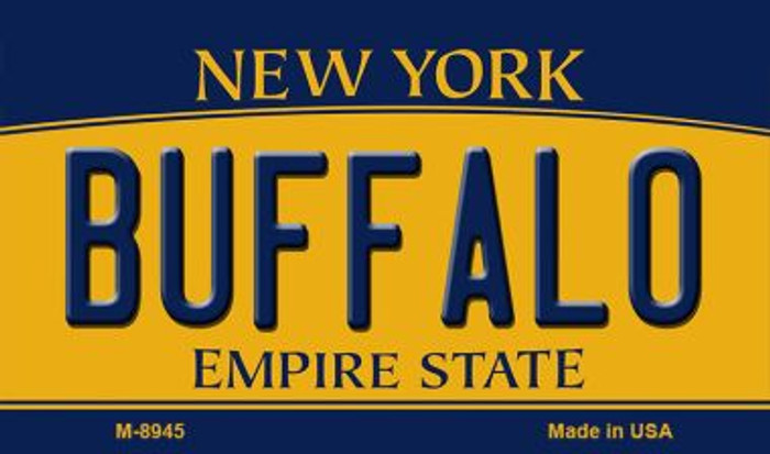 Buffalo New York State License Plate Magnet M-8945