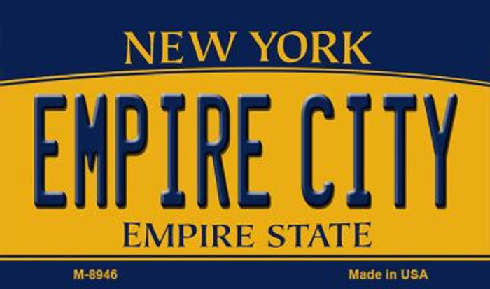 Empire City New York State License Plate Magnet M-8946