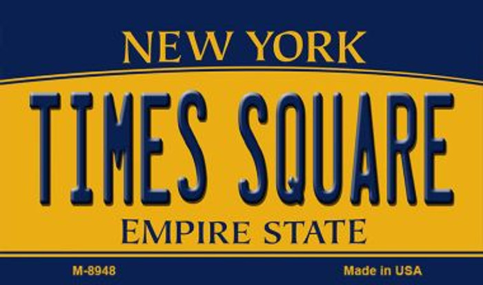 Times Square New York State License Plate Magnet M-8948