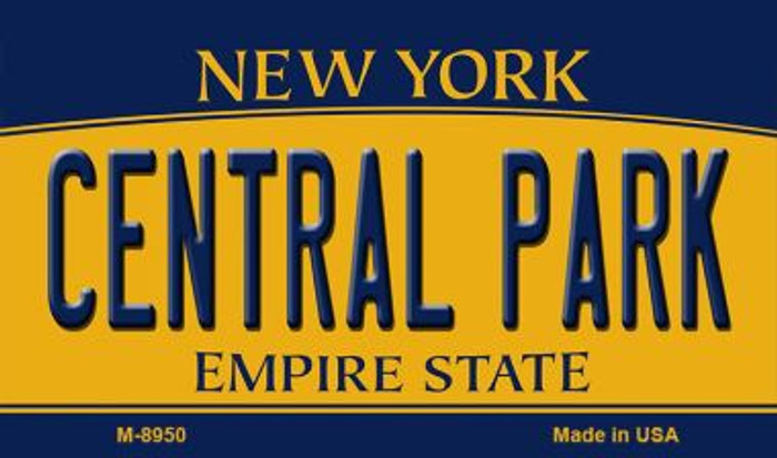 Central Park New York State License Plate Magnet M-8950