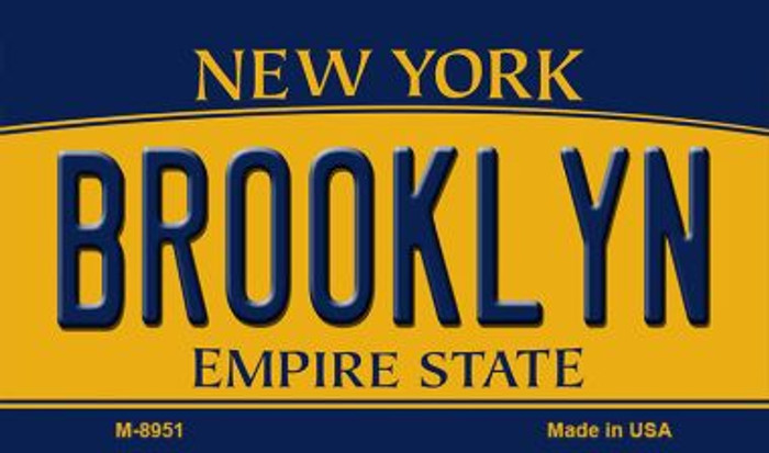 Brooklyn New York State License Plate Magnet M-8951
