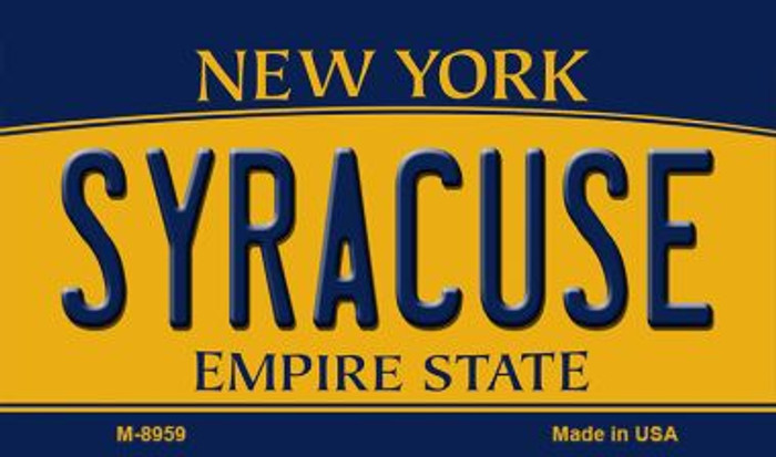 Syracuse New York State License Plate Magnet M-8959