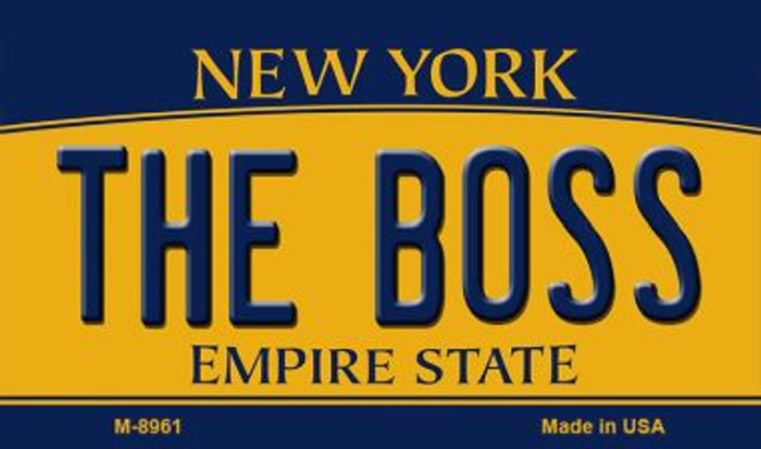 The Boss New York State License Plate Magnet M-8961