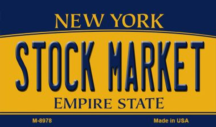 Stock Market New York State License Plate Magnet M-8978