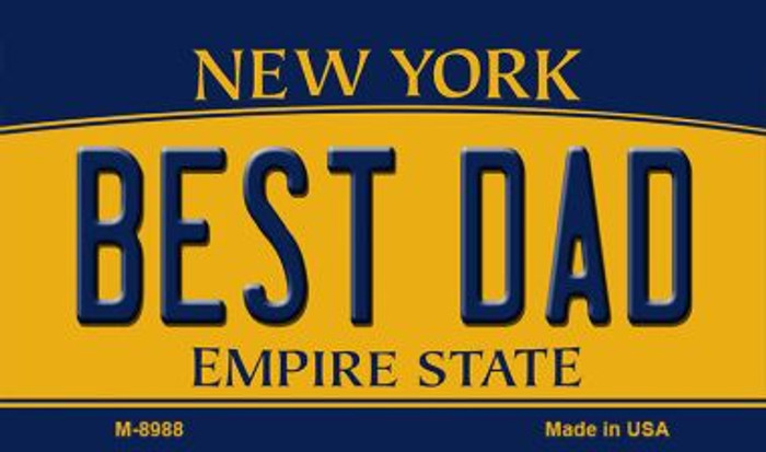 Best Dad New York State License Plate Magnet M-8988