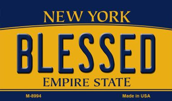 Blessed New York State License Plate Magnet M-8994