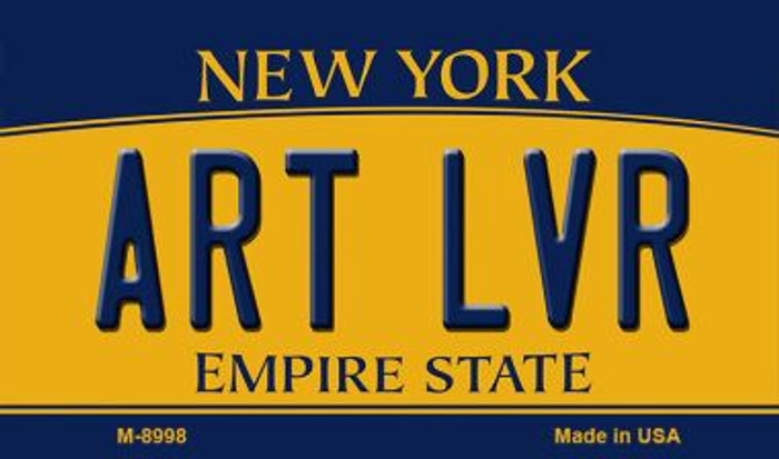 Art LVR New York State License Plate Magnet M-8998