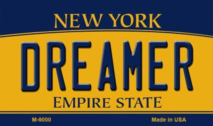 Dreamer New York State License Plate Magnet M-9000