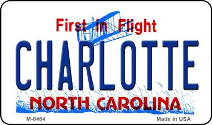 Charlotte North Carolina State License Plate Magnet M-6464