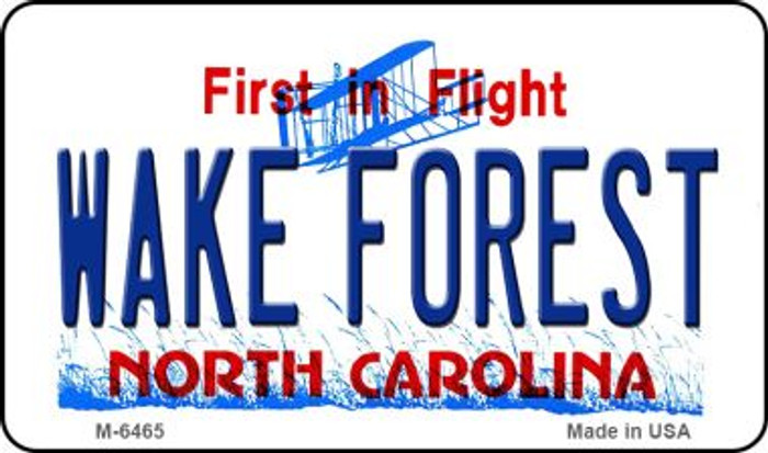 Wake Forest North Carolina State License Plate Magnet M-6465