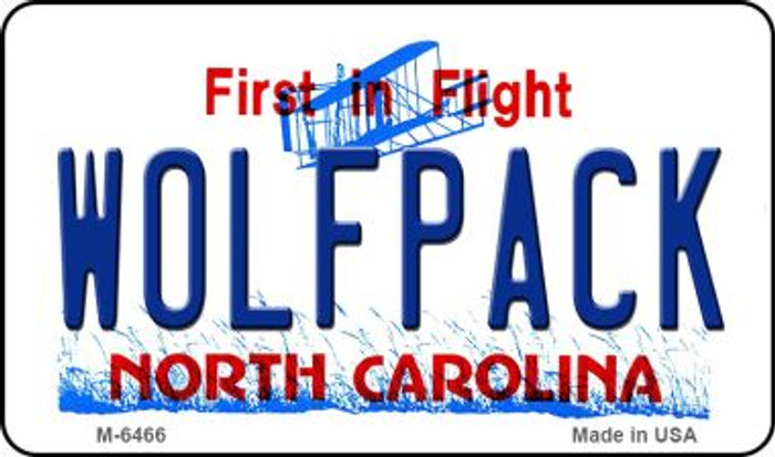 Wolfpack North Carolina State License Plate Magnet M-6466
