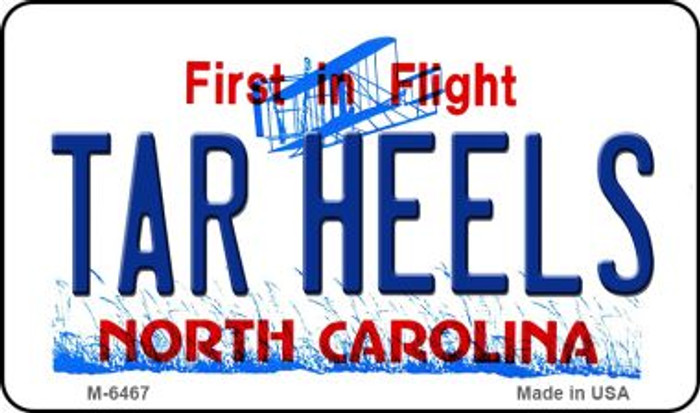 Tar Heels North Carolina State License Plate Magnet M-6467