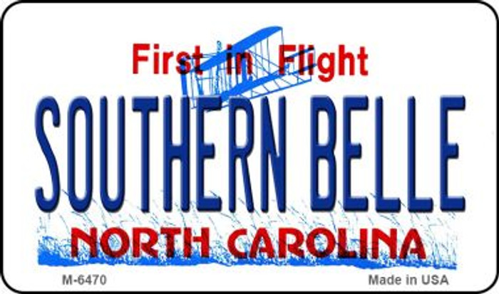 Southern Belle North Carolina State License Plate Magnet M-6470