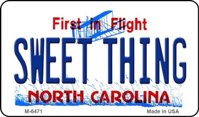 Sweet Thing North Carolina State License Plate Magnet M-6471