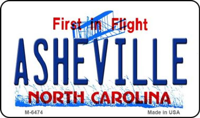 Asheville North Carolina State License Plate Magnet M-6474
