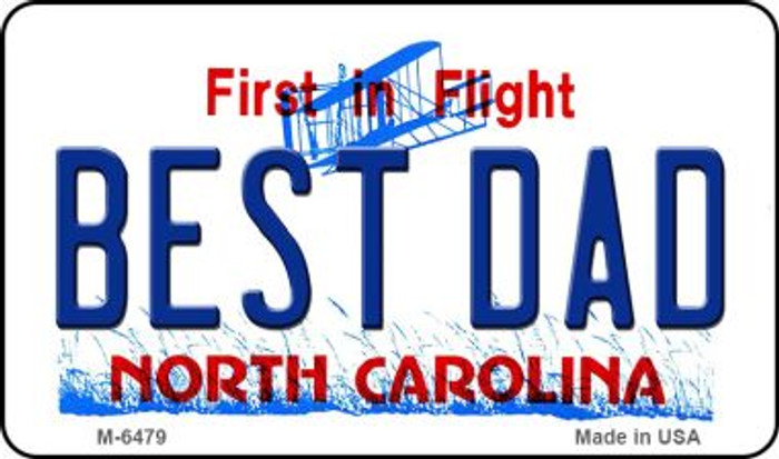 Best Dad North Carolina State License Plate Magnet M-6479