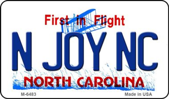 N Joy NC North Carolina State License Plate Magnet M-6483