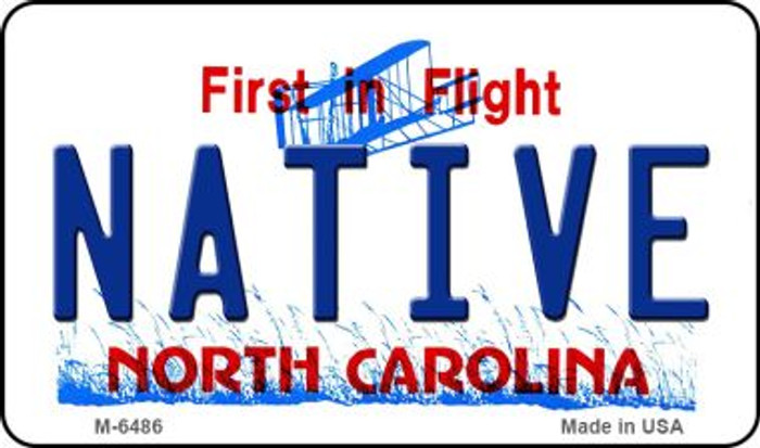 Native North Carolina State License Plate Magnet M-6486